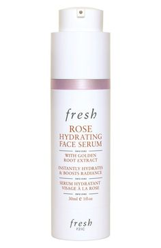 Fresh® 'Rose' Hydrating Face Serum | The lightweight blend is enriched with age-defying ingredients that absorb quickly, including rosewater, rose flower oil, golden root extract, hibiscus flower acids, evening primrose extract and cucumber extract.