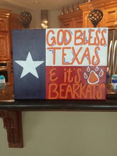 The apostrophe shouldn't be there, but otherwise, super cute. SHSU Bearkats ♥