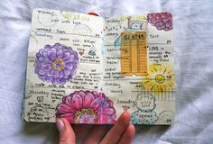 Jenny's Sketchbook: Journal Pages like the flowers and the colors on the page