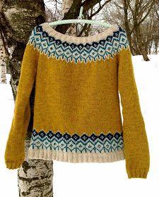 Knitting Patterns Coat Stickningskiosken: Winter wonderfulness in knitted lace mittens, a sweater and a green wool coat Motif Fair Isle, Fair Isle Pattern, Fair Isle Knitting Patterns, Jumper Patterns, Knitting Ideas, Crochet Patterns, Knitting Tutorials, Stitch Patterns, Tejido Fair Isle