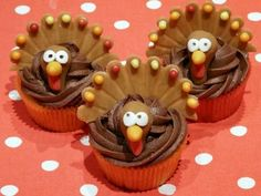 Cute cupcakes for turkey day