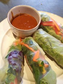 Earthly Epicurean: Summer Rolls with Peanut Sauce