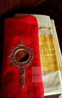 Blouse Patterns, Blouse Designs, Set Saree, Kasavu Saree, Beaded Mirror, Mirror Work Blouse, Kerala Saree, Sleeve Designs, Saree Blouse