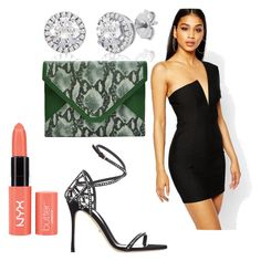 Untitled #749 by fcharese on Polyvore featuring polyvore, fashion, style, Rare London, Sergio Rossi, Candy Woolley, Pink, black, GREEN, SergioRossi and rarelondon