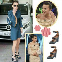 Mantenham-se inspirados com as produções super fashion que a Millie Bobby Brown vem usando na Europa. Primeiro uma combinação blue de vestido #roksanda e sapatos #altuzarra. Depois um vestidinho pastel, criativo, de bolinhas. As mangas com babados ou bufantes e os sapatos de lacinhos são tendências fortes. #beautiful #milliebobbybrown #creative #fashion #style #inspirations #europe