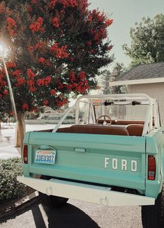 xoxo Great Tagged with aesthetic art car cute mint nature photography retro summer vintage My Dream Car, Dream Cars, Jeep Camping, Cute Cars, Fancy Cars, Ford Bronco, Future Car, Belle Photo, Old Cars