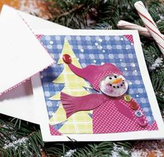 "Jolly Snowman Card  (Link ""Learn more about this project"" doesn't work..so all you can do is look at pic)"