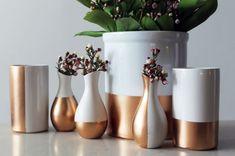 DIY Basics: Gold-Dipped Ceramics via Brit + Co.
