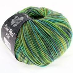 COOL WOOL 0784-light green/yellow/turquoise/light blue