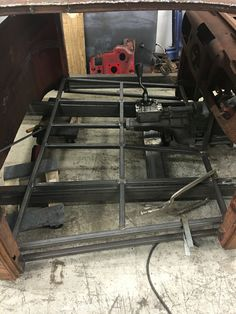 Started on the floor structure and made the transmission mount and crossmember 1948 Ford Truck, F100 Truck, Hot Rod Trucks, Cool Trucks, Jeep Rat Rod, Rat Rod Build, Old Chevy Pickups, Custom Rat Rods, Mechanical Workshop