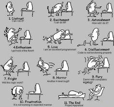 Las 11 etapas de un programador