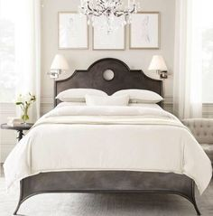 Restoration Hardware love- I love white bedrooms! So clean and beautiful