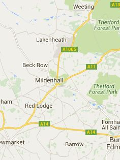 Mildenhall Warren (England) - east side of Thetford Forest