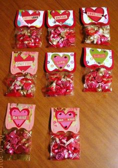Valentines Candy Bag Topper