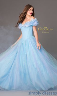 Shop SimplyDresses for blue ball gowns and Cinderella prom dresses. Enchanted Cinderella keepsake gown from Disney's Forever for prom.