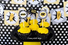 Cute batman cupcakes