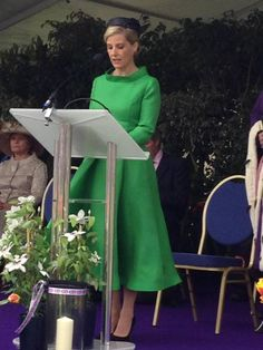 HRH The Countess of Wessex representing HM Queen Elizabeth II on Guernsey Island on the 70th Anniversary of their Liberation, 9th May 2015