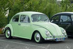 Old Cars, Beetle, Google Images, Volkswagen, France, Park, Vehicles, Green, Bicycle Crunches