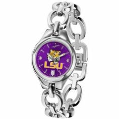 NCAA LSU Tigers Ladies Stainless Steel Eclipse Open Link Watch by Football Fanatics. $94.95. Stainless steel strap. Jewelry clasp. 3-hand quartz analog movement. Team logo and colors. Water resistant up to 5 ATM. LSU Tigers Ladies Stainless Steel Eclipse Open Link WatchLuminescent hand and face markingsWater resistant up to 5 ATMJewelry clasp3-hand quartz analog movementStainless steel strapTeam logo and colorsOfficially licensed collegiate productReady to wrapImportedP...
