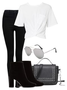 """Untitled #706"" by rebeca-burton ❤ liked on Polyvore featuring Forever New, T By Alexander Wang and Yves Saint Laurent"
