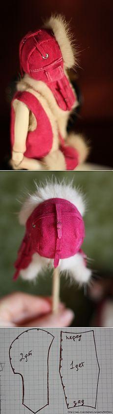 Sombrero casco para muñecas tamaño 1/6