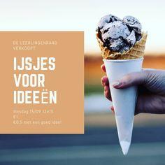 In Zele verkoopt de leerlingenraad ijsjes om geld in te zamelen. Heb je een goed idee om de school beter te maken? Dan krijg je een ijsje aan de helft van de prijs! Een orginele en effectieve manier om ideeën te verzamelen.