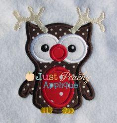 Reindeer Owl Applique Design