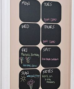Take a look at this Weekly Chalkboard Calendar Decal Set by Inspire Your Walls on #zulily today!
