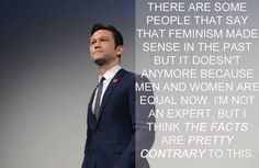 Joseph Gordon-Levitt | 17 Celebrities Who Have The Right Idea About Feminism