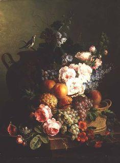 artist cornelis van spaendonck | Image: Cornelis van Spaendonck - Still Life of Fruits and Flowers in a ...