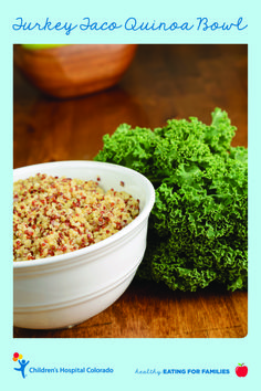 In this healthy, kid-friendly recipe, you'll learn how to make a turkey taco quinoa bowl at home.