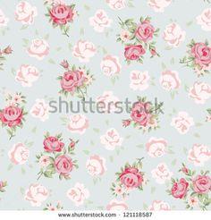 Padrão contínuo floral vintage. Fundo rosa-antigo para seu scrapbook.