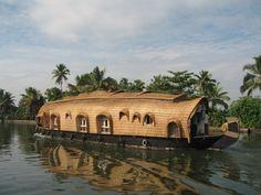 Fantasy-like Boat House, Kerala, India