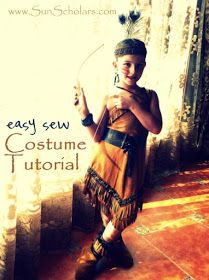 Costume Tutorial for indian dress, including boot covers, head dress and belt.
