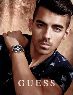Joe Jonas stars in the spring-summer 2017 GUESS Watch campaign.
