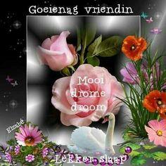 Goeie Nag, Afrikaans Quotes, Sleep Tight, Night, Food, Self, Essen, Meals, Yemek