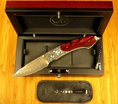 William Henry Knives B12 Custom Made- 1 of 1 Hand Carved Sterling- Cocobolo Wood #WilliamHenryStudios