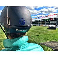 A Personally Preppy helmet monogram a Spruce Meadows. We love Equestrian monograms.   Cheers,  Tate and Kir