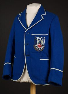 Don Bradman's New South Wales team blazer, blue, insignia on pocket. Bradman played for New South Wales between 1927 and Blazer is undated. Visit the State Library of South Australia to view more photos of South Australia Tours Of England, Still Standing, Blazer, South Wales, Cricket, Flags, Sports, Jackets, Tasmania