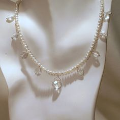 Faceted Crystal Quartz and Small Freshwater Pearls by tbyrddesigns, $39.00