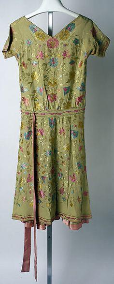 Afternoon dress  c. 1926 Callot Soeurs Silk Metropolitan Museum Back 3
