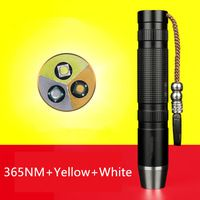 365nm 5W Triple Core Head Ultra Violet Torch Fake Amber Jade Diamond Mineral Detector LED UV Flashlight for Gems,Jewelry Detecting #FFRanTechStore