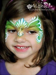Leuk en makkelijk masker Girl Face Painting, Painting For Kids, Body Painting, Le Face, Face And Body, Mermaid Face Paint, Diy Face Paint, Make Up Art, Festival Makeup