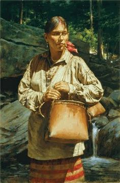 By Robert Griffing Native American Clothing, Native American Women, American Indian Art, Native American History, Native American Indians, Woodland Indians, Girl In Water, Indian Pictures, Native Indian