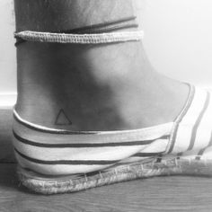 triangle tattoo ankle