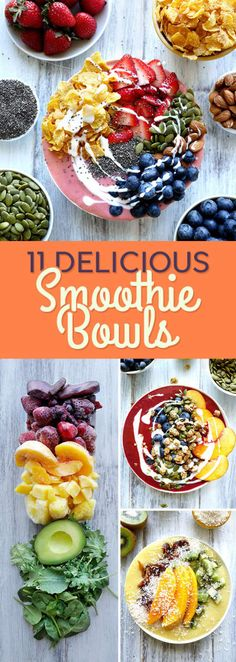 Smoothie bowls are what they sound like, but they're better. You can create pretty much any combo of flavors that you want and then top it with your favorite fruits and other crunchy things like cereal and nuts. This means it's more satisfying than a regular smoothie because you can't down it 10 seconds.Smoothie bowls are a huge thing on Instagram and are super trendy because they are so pretty. If you've gotten hooked on açai bowls at your local juice shop, these are basically the same…