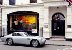 """Captioned, """"The Cartorialist"""", I have to agree that there are few things more baller than showing up to a fitting on Saville Row in a vintage Aston Martin."""
