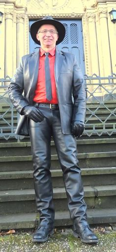 Leather Blazer, Leather Men, Straight Guys, Men's Collection, Hair Cuts, Tights, Suits, Hair Styles, Outfit