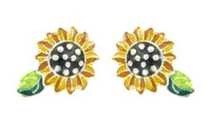 Sunflower Post Silver & Enamel Earrings by Zarah Zarah,http://www.amazon.com/dp/B002QULIHQ/ref=cm_sw_r_pi_dp_N48Htb1ZDWQ6Z386