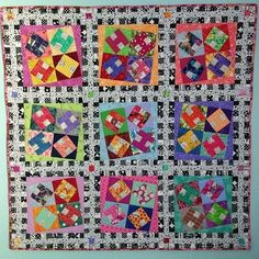 """I'm still going through emails looking at all the wonderful show and share photos that were sent in during our live Quilt-Cam on Facebook!  Celeste has finished her baby sized H is for Happy quilt!  She writes: """"Just hung up my latest creation from your pattern.  So happy with the instructions and the ongoing learning from your patterns.  I'm on your Quilt-Cam now and it comes in great!! So happy you figured this out.  Better you than me."""" . . I am loving this little scrappy bundle of…"""